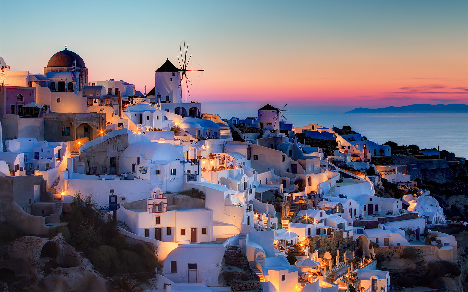 Santorini Sunset Cruis HD Wallpaper Background Images 1920x1200