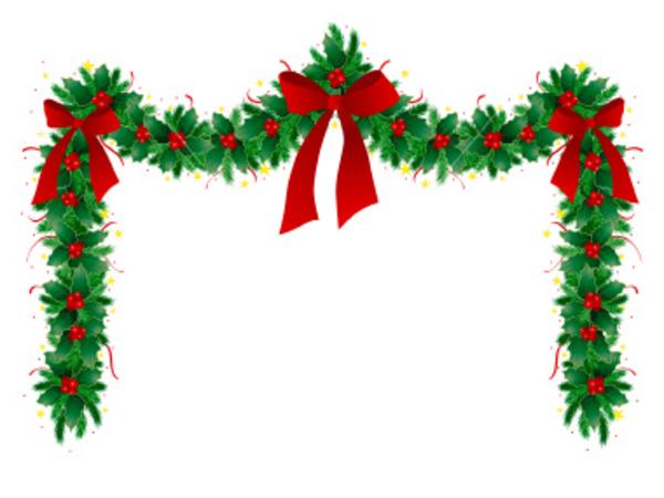 cute merry christmas clip arts garland free download christmas garland ...