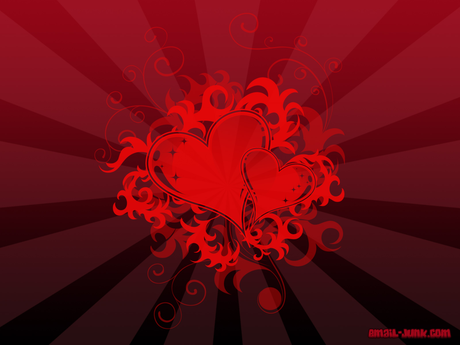 Red Heart Black Background