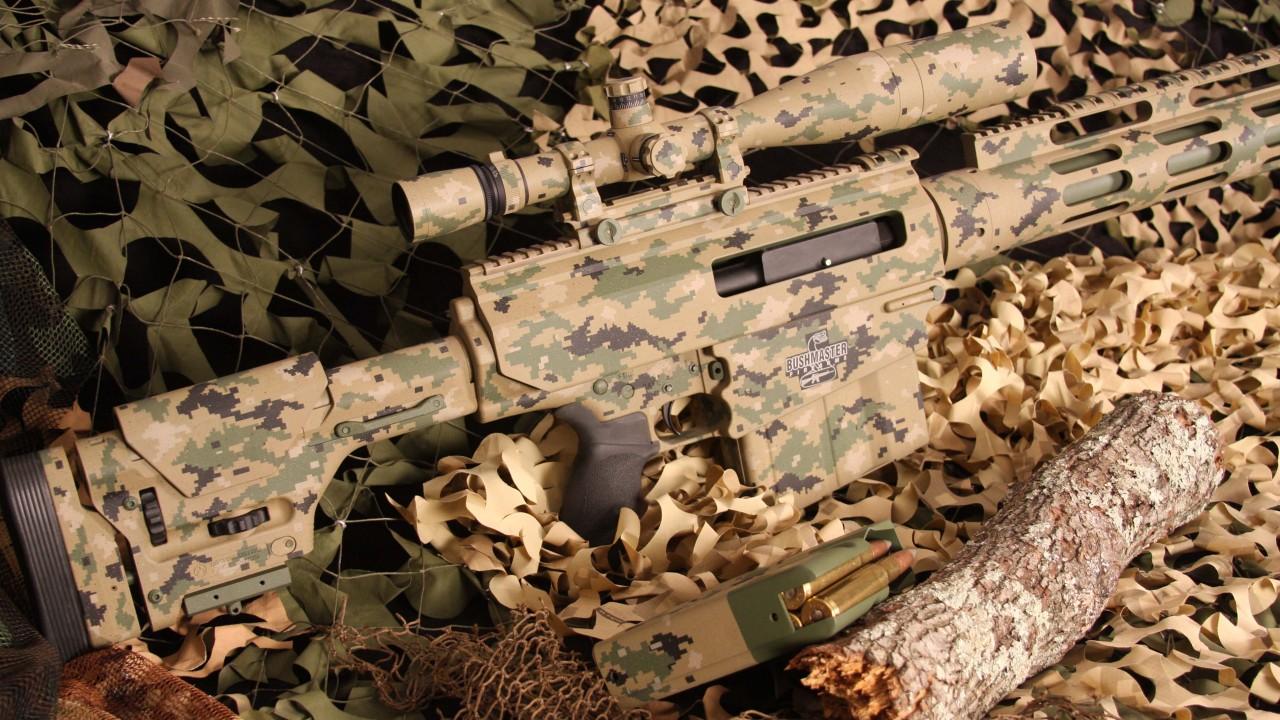 Wallpaper Bushmaster BA50 sniper rifle carbine scope 1280x720