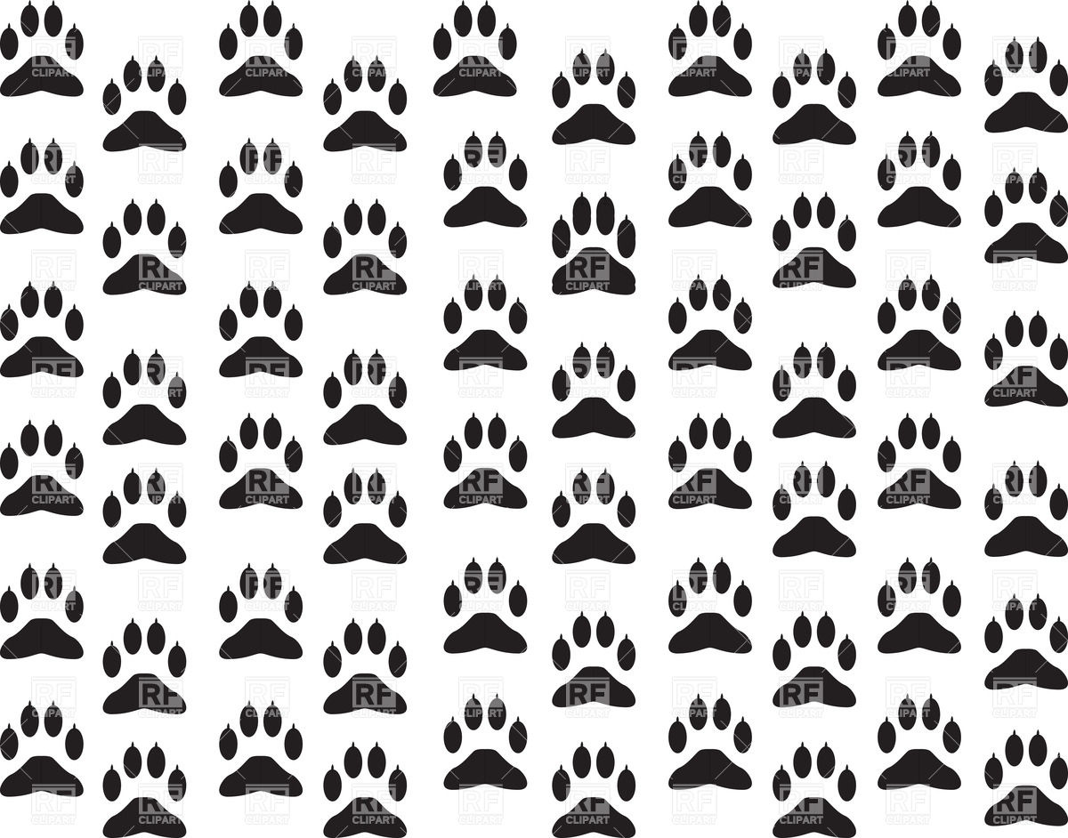Download Dogs paw print background Plants and Animals download