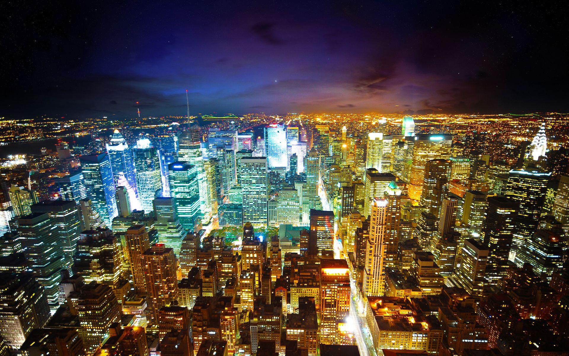 City Lights HD Wallpaper 1920x1200