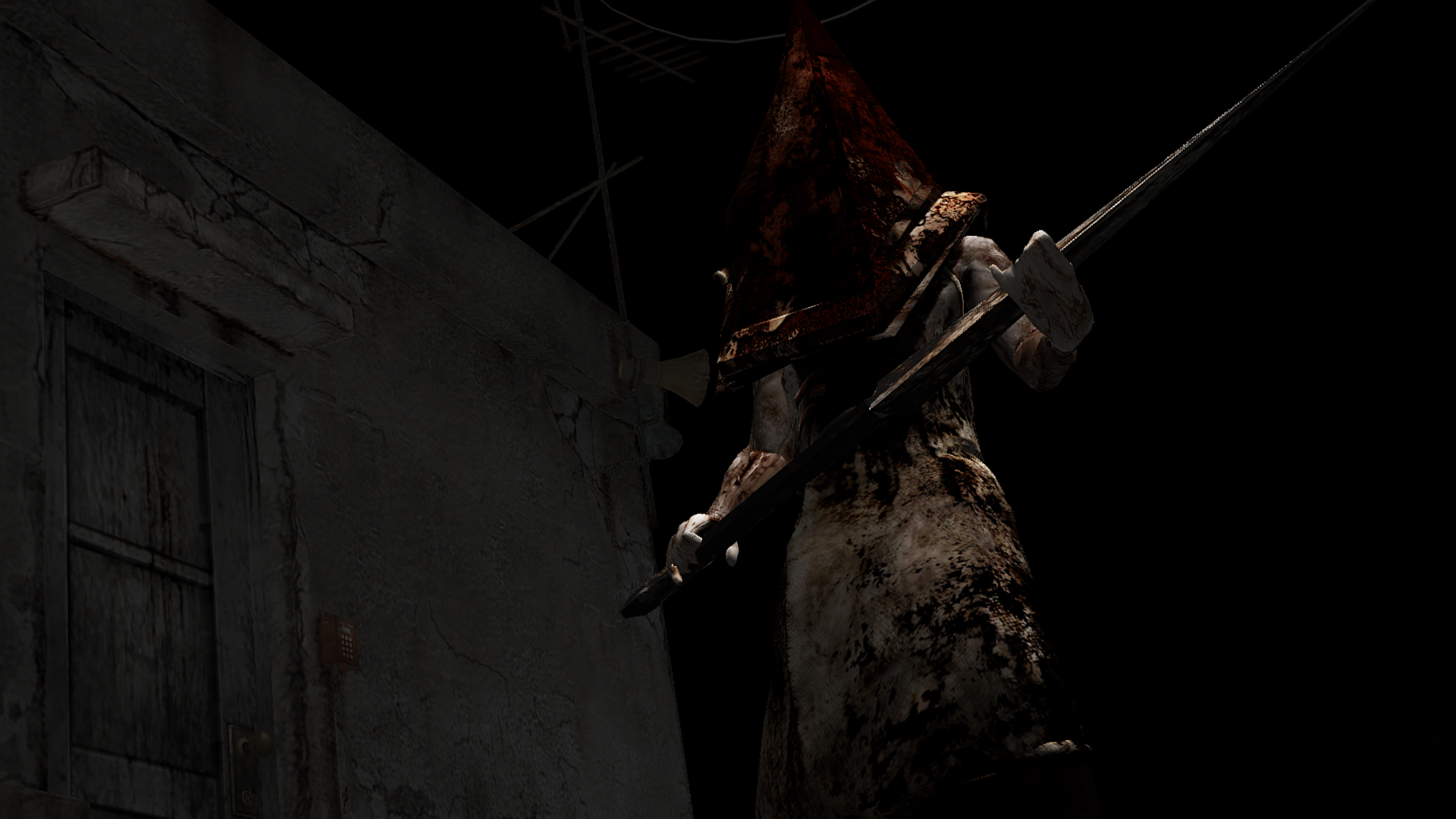 Group Of Scary Silent Hill Pyramid Head Wallpaper
