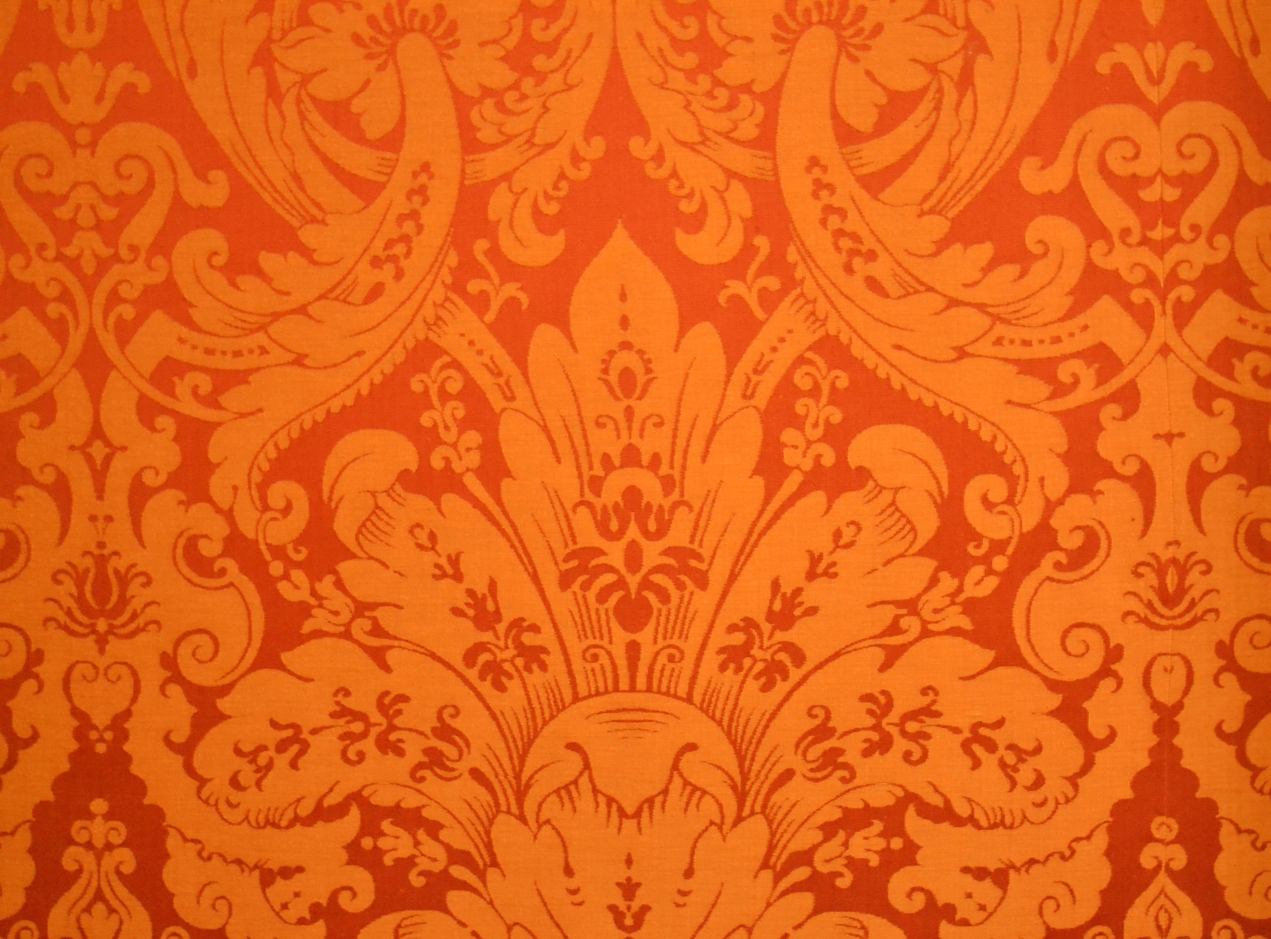 Classic French Baroque Silk Wallpaper at Chteau de Chambord   Loire 4158x3072