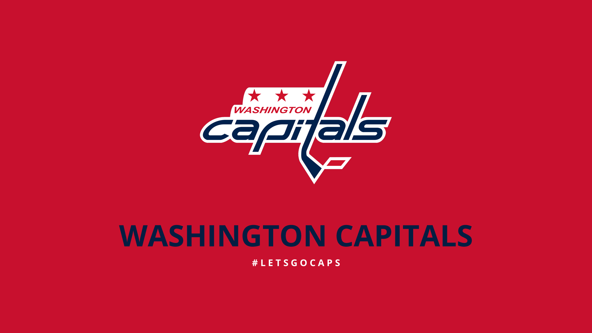 Minimalist Washington Capitals wallpaper by lfiore 1920x1080