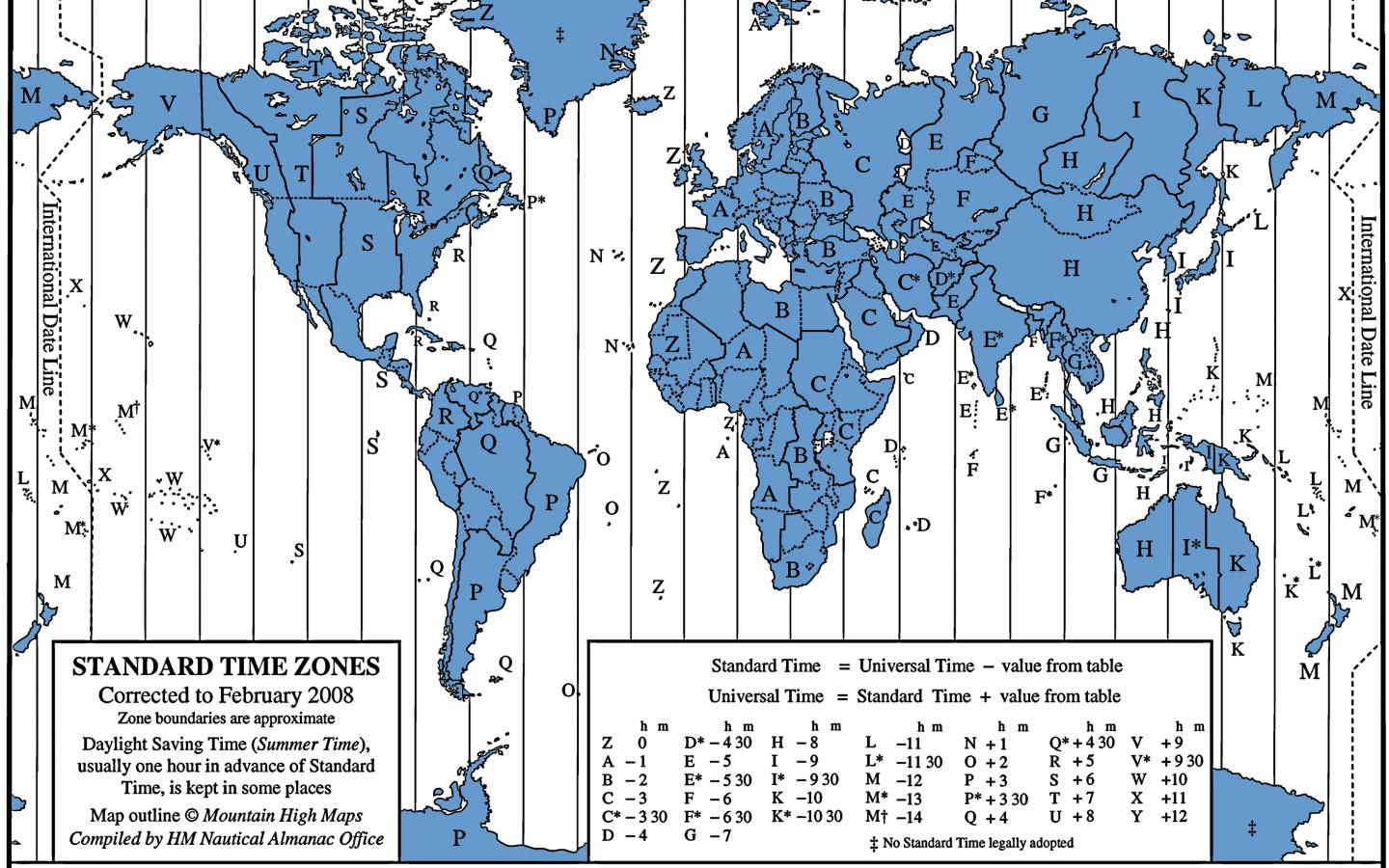 Time Zone Map Of The United States Nations Online Project Current - Map of us time zones during daylight savings