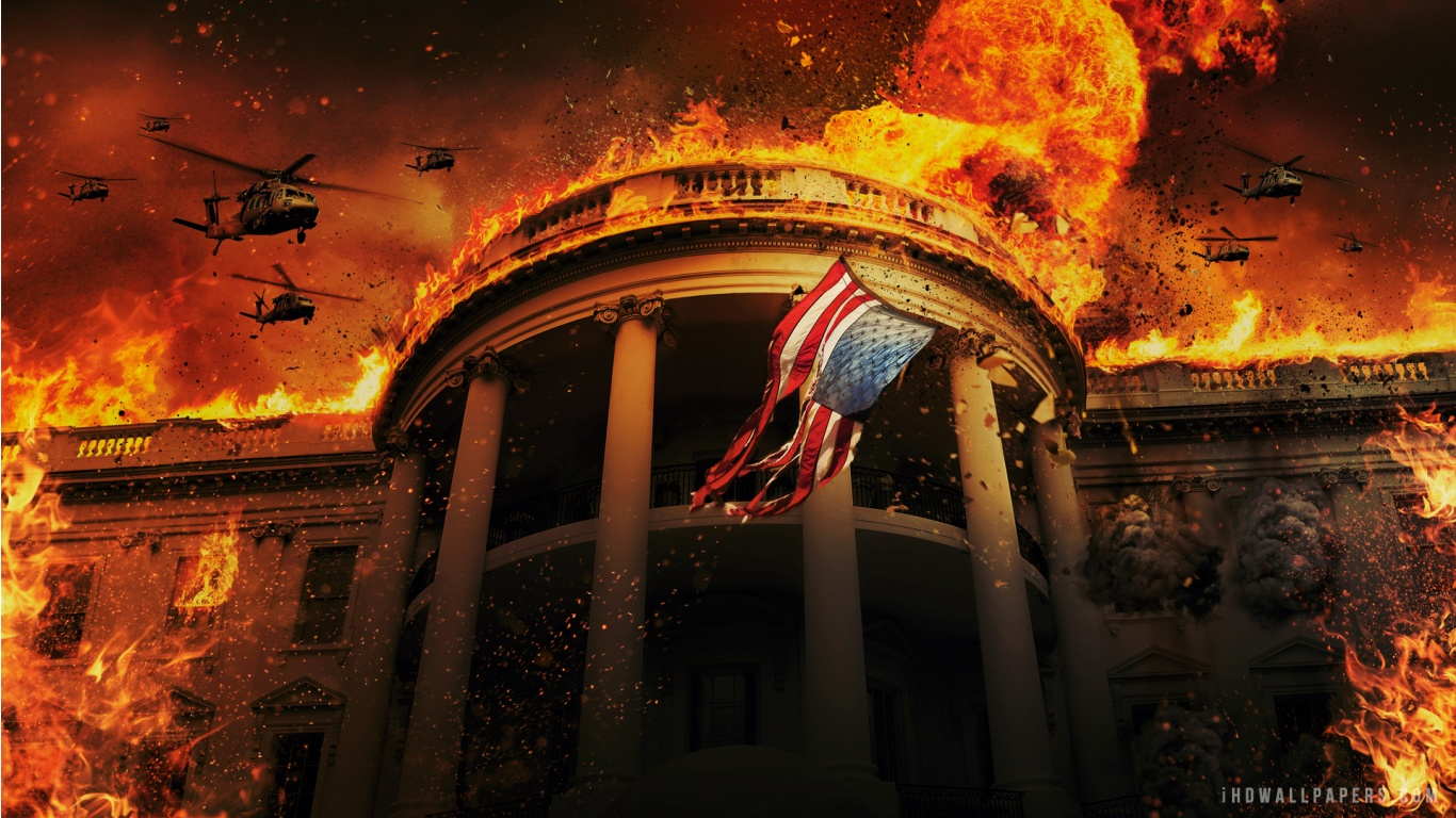 Olympus Has Fallen Wallpaper 1366x768
