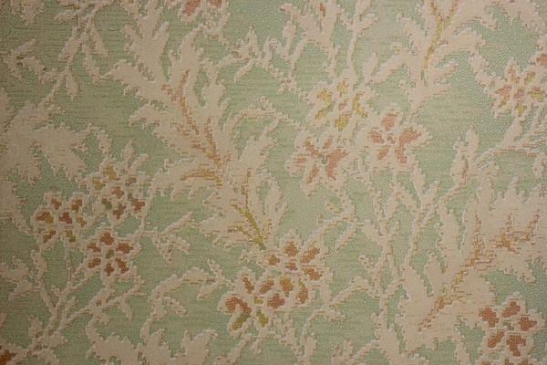 Art Deco Floral on Green Vintage Wallpaper   Rosies Vintage Wallpaper 600x400