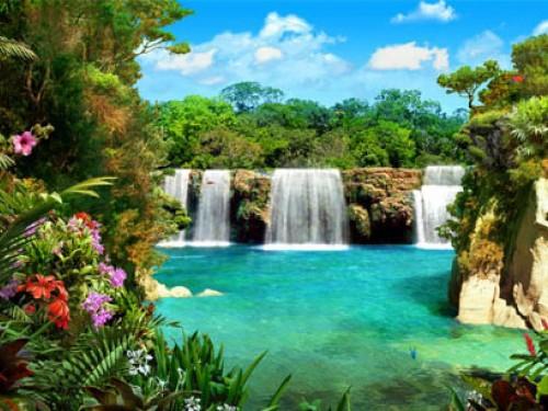Screensaver Screensavers   Download 3D Waterfalls Screensaver 500x375