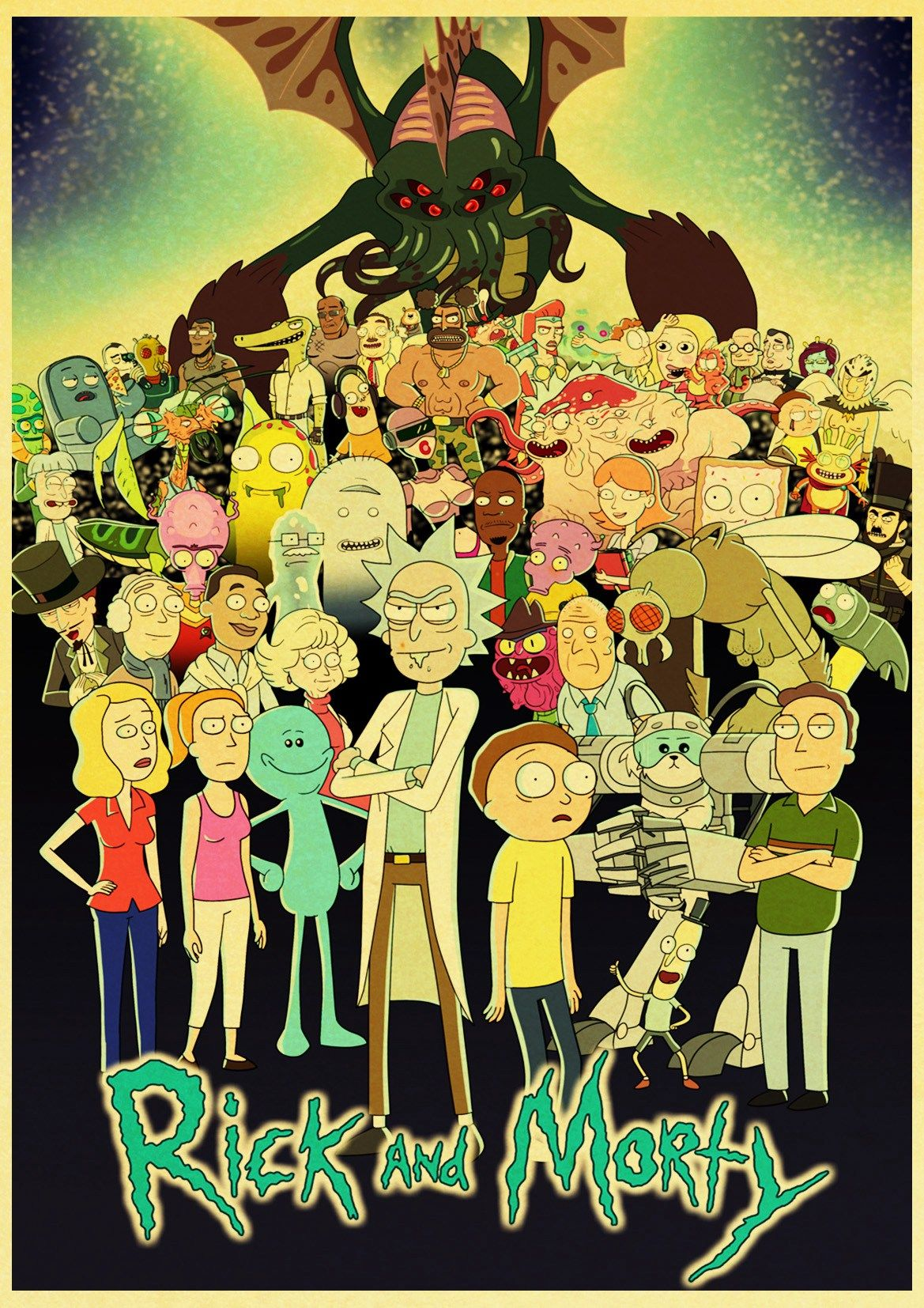 Cartoon Rick And Morty Retro Poster in 2020 Rick morty poster 1169x1654