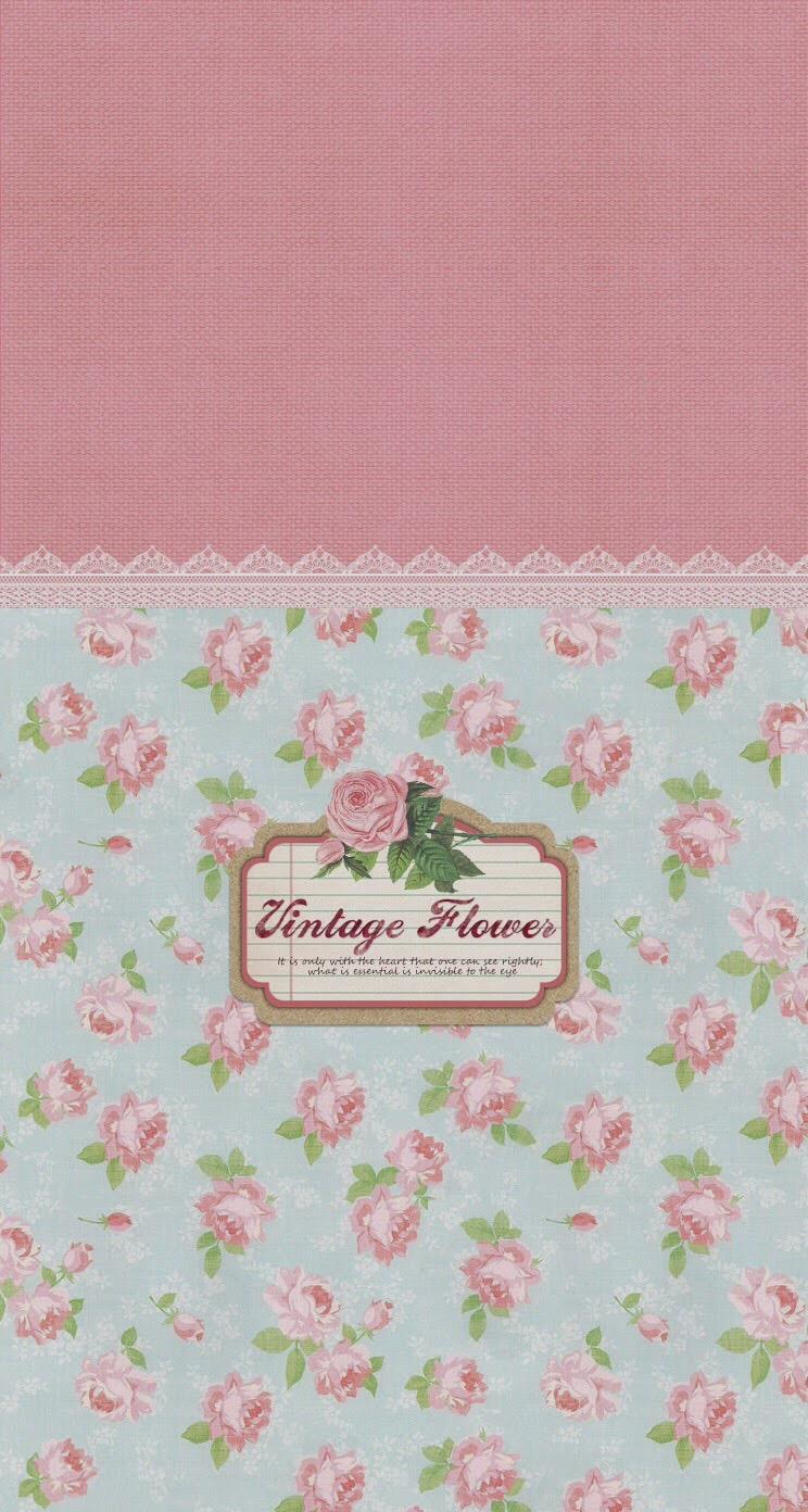 Vintage Flowers Pattern Sign iPhone 6 Plus HD Wallpaper iPod 744x1392