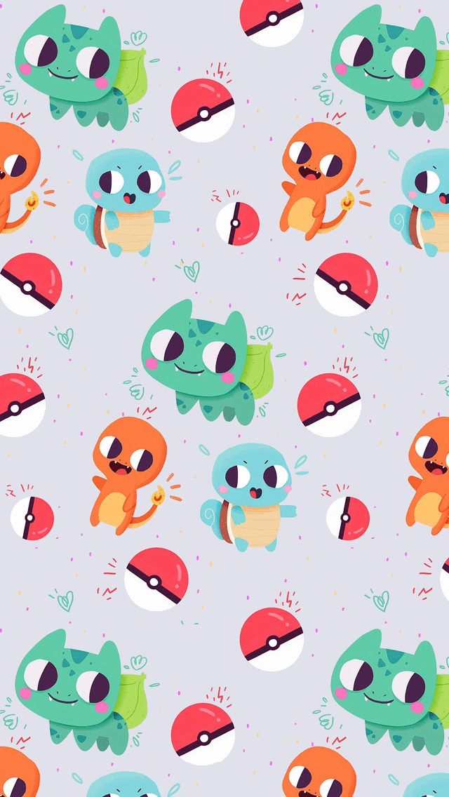 Cute Bulbasaur Charmander and Squirtle Pokemon   Tap to see more 640x1136