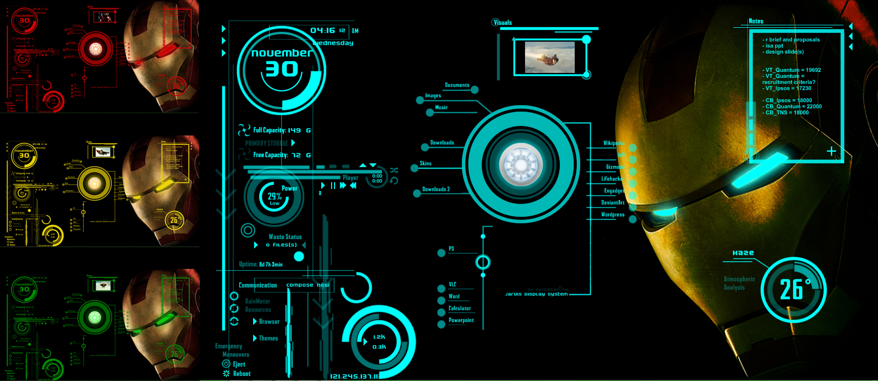 IronMan Jarvis Theme Version 2 by scrollsofaryavart 1766x768