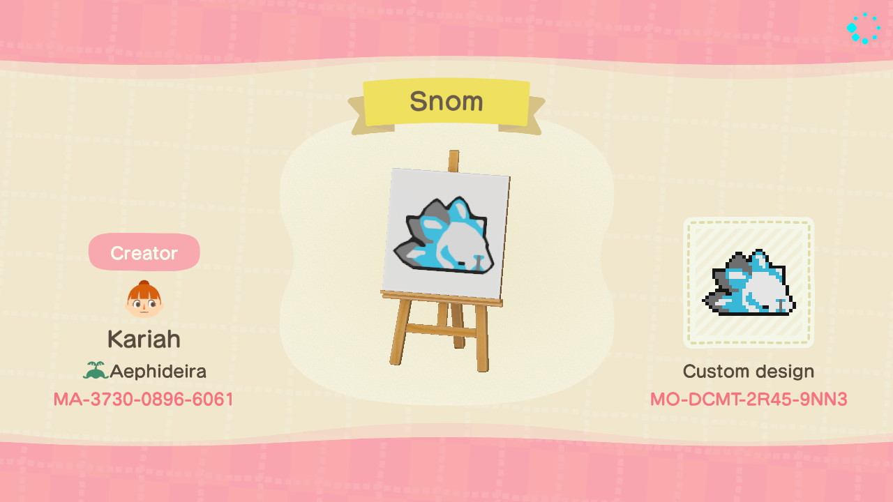 I made a snom pattern in Animal Crossing for use on mugs bedding 1280x720