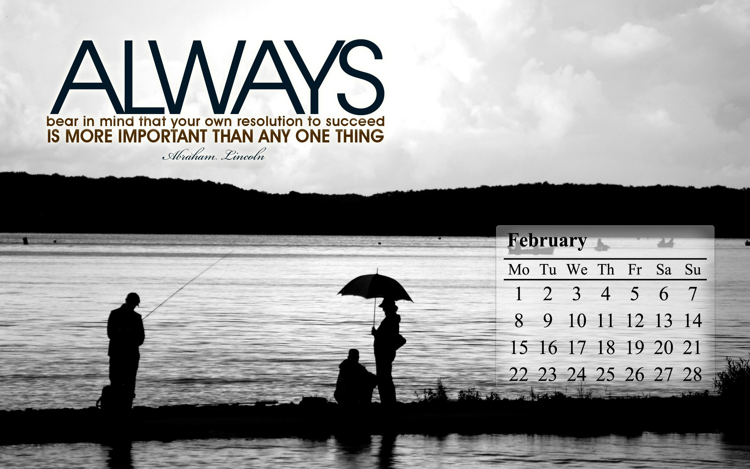 February 2010 Calendar Desktop Wallpaper 1 2560x1600