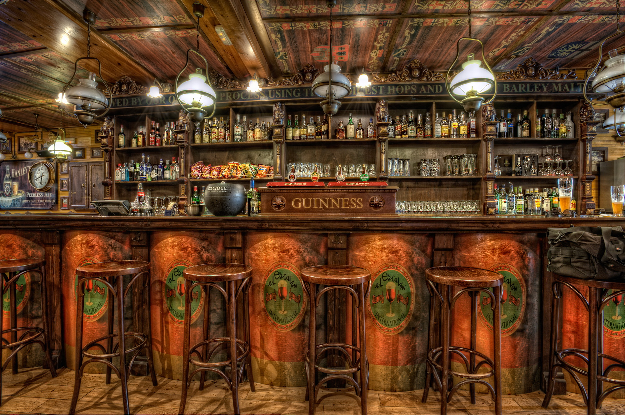 Chairs Ceiling Hdr Design Wooden Bar Room Wallpaper Background 2000x1328