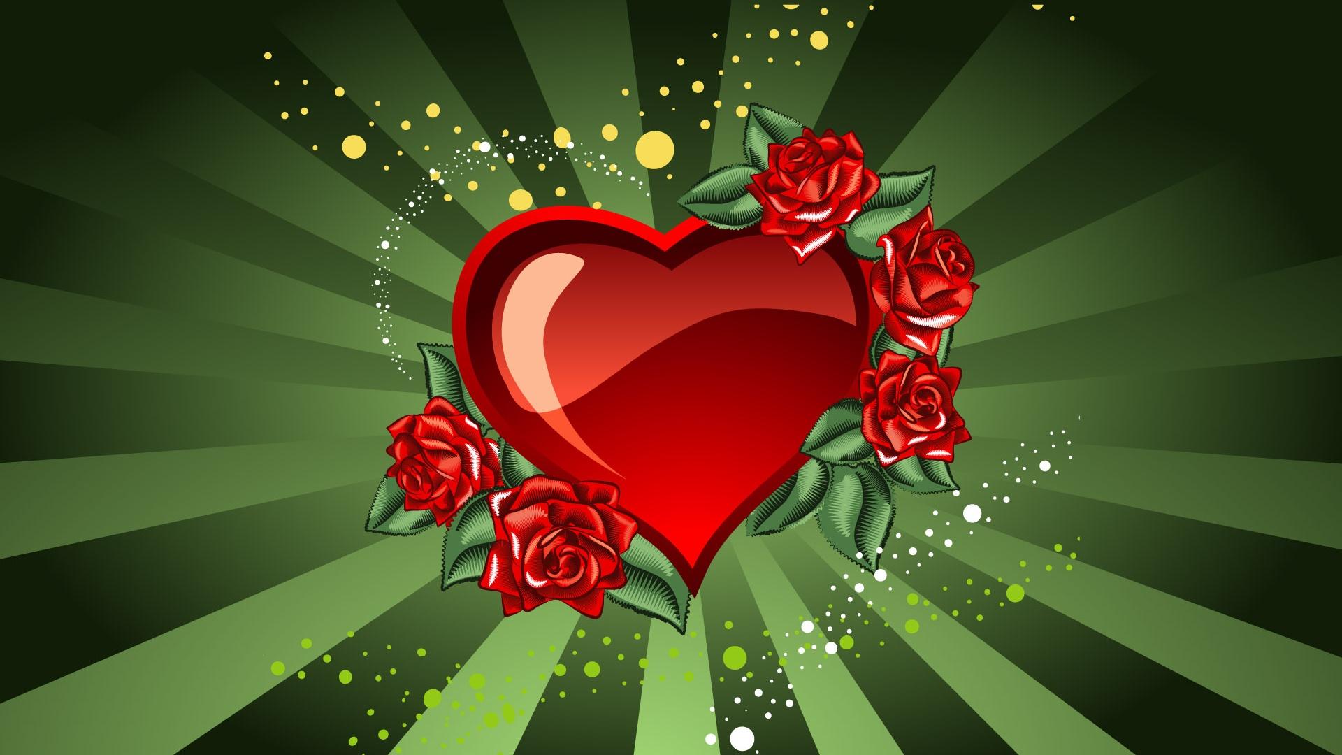 Valentine s Day heart Wallpaper Desktop Wallpapers Wallpapers 1920x1080