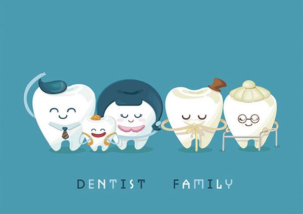 Cute Cartoon Teeth Family Vector People Free Download 600x424