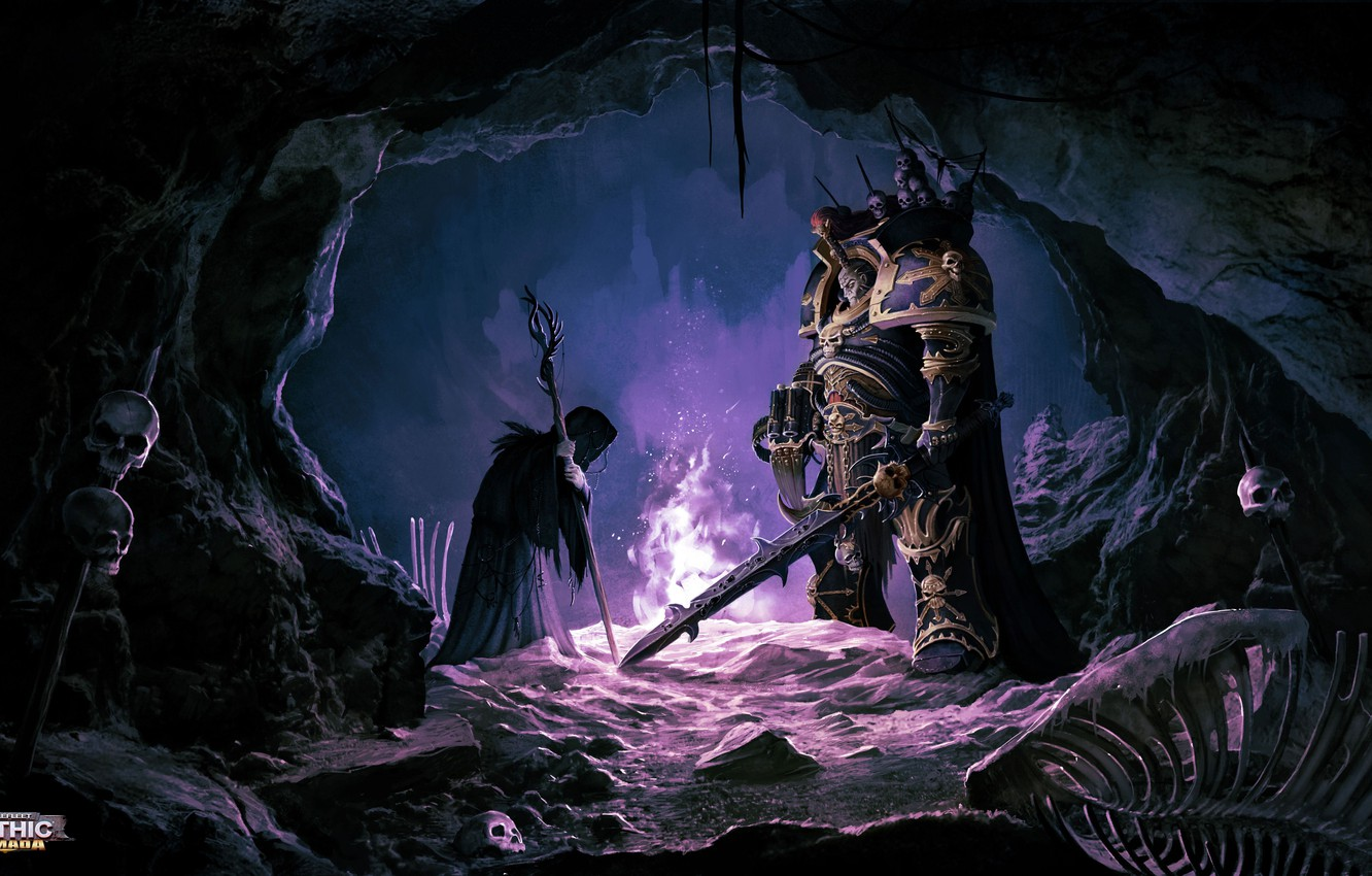 Wallpaper cave the old woman the witch Abaddon Warhammer 40K 1332x850