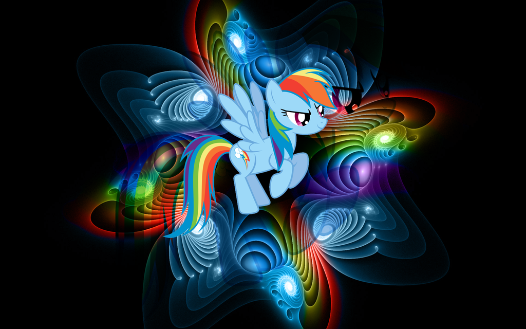 Wallpaper Rainbow Dash [MLP] by RicePoison 1024x640