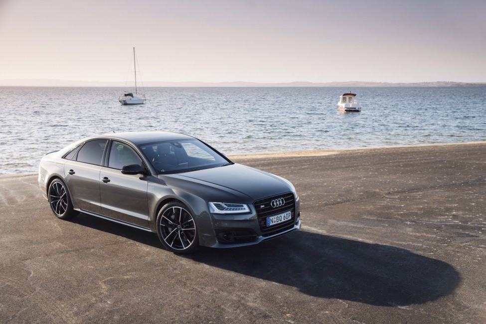 Audi S8 Side View Sea   Stock Photos Images HD Wallpaper 975x650
