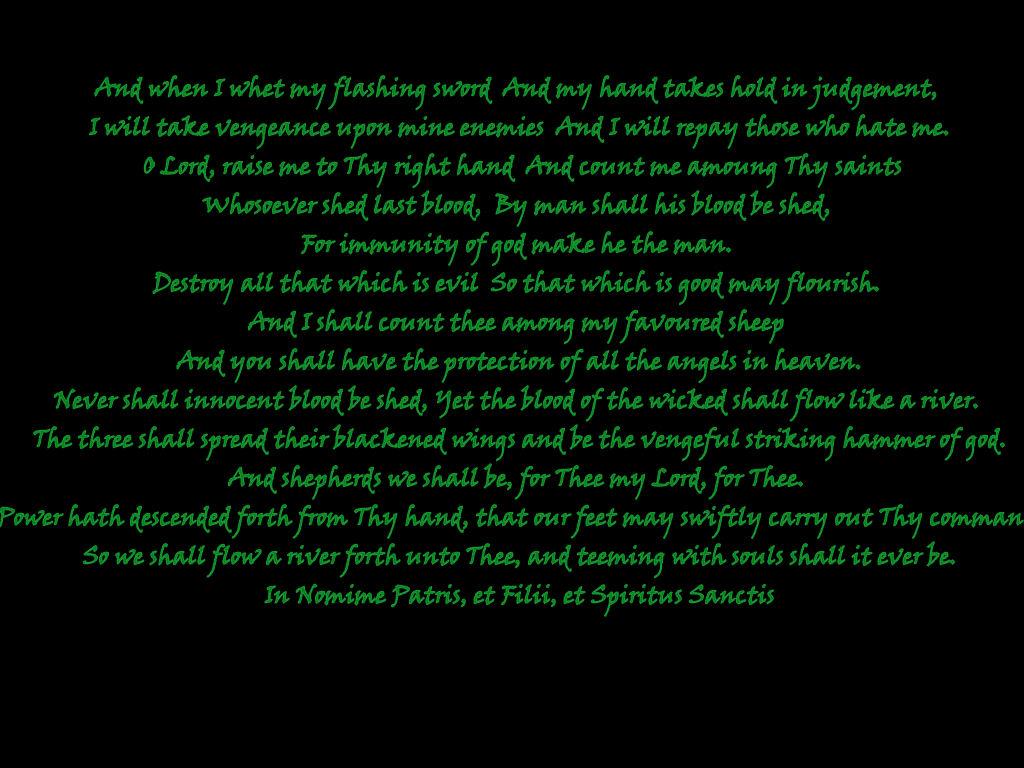 Boondock Saints Prayer...