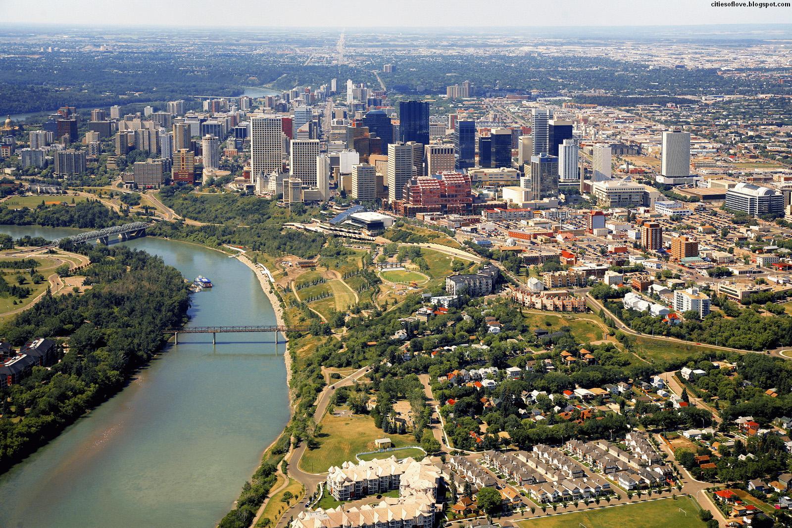 City Of Canadian Province Of Alberta Canada Hd Desktop Wallpaper 1600x1067
