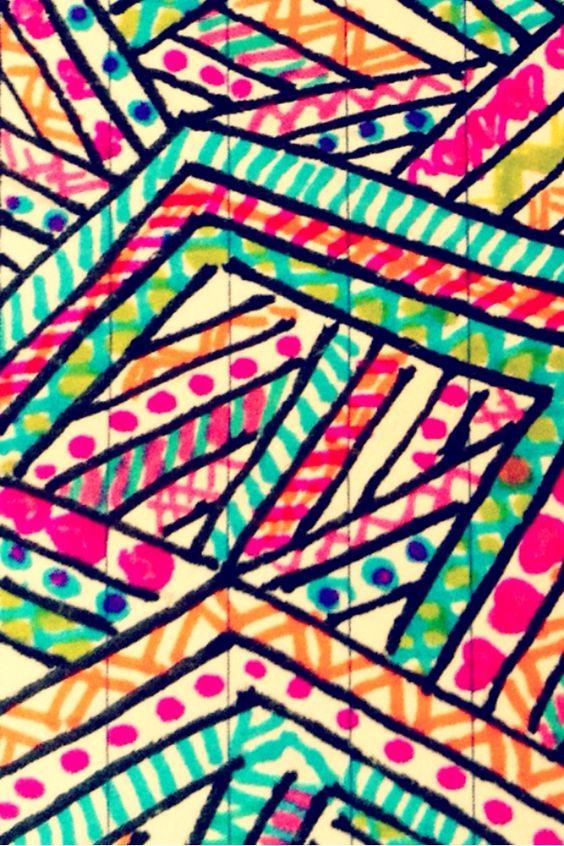 Hand drawn Aztec prints iphone wallpaper Pinterest 564x846