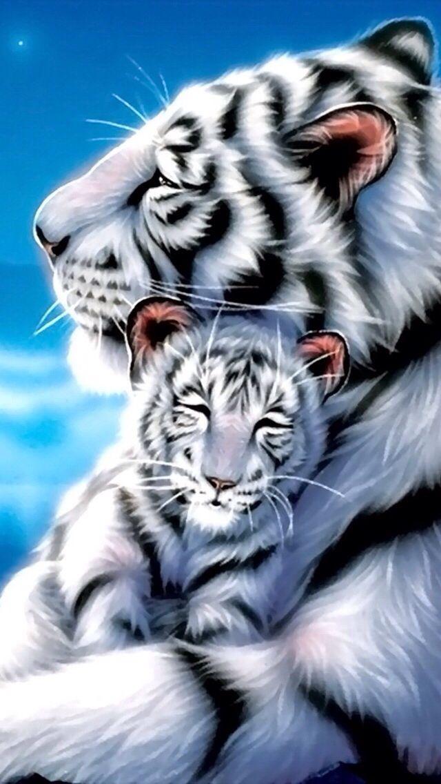 White Tiger iPhone Wallpaper  WallpaperSafari