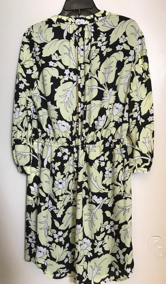 Diane von Furstenberg Multicolor L Dvf Freya Wallpaper Leaf Black 562x960