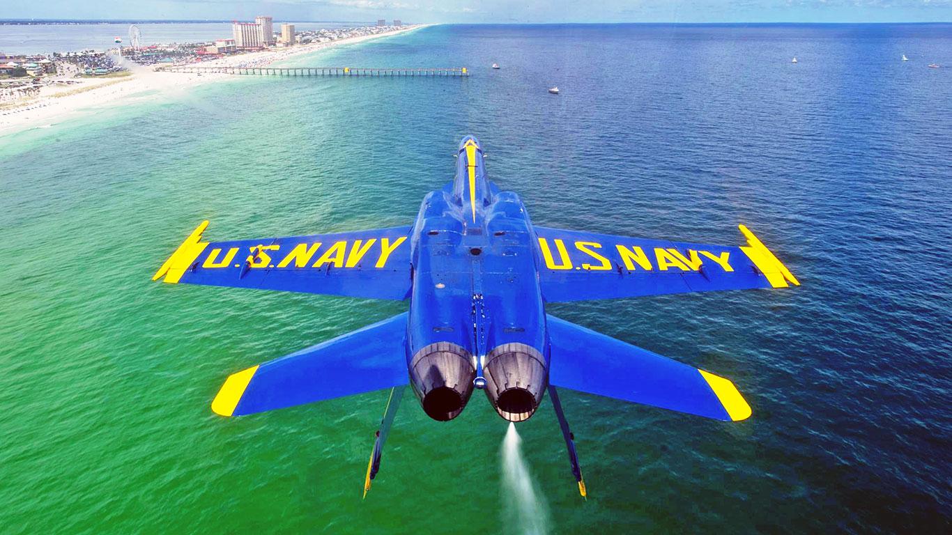 CoolPix The Flipped Blue Angels Pensacola Beach Desktop Pix   blog 1366x768
