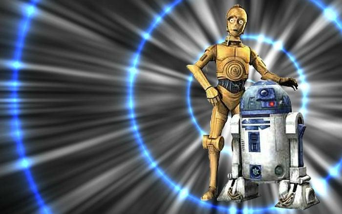 R2d2 And C3po Desert C3PO and R2D2 Wallpape...