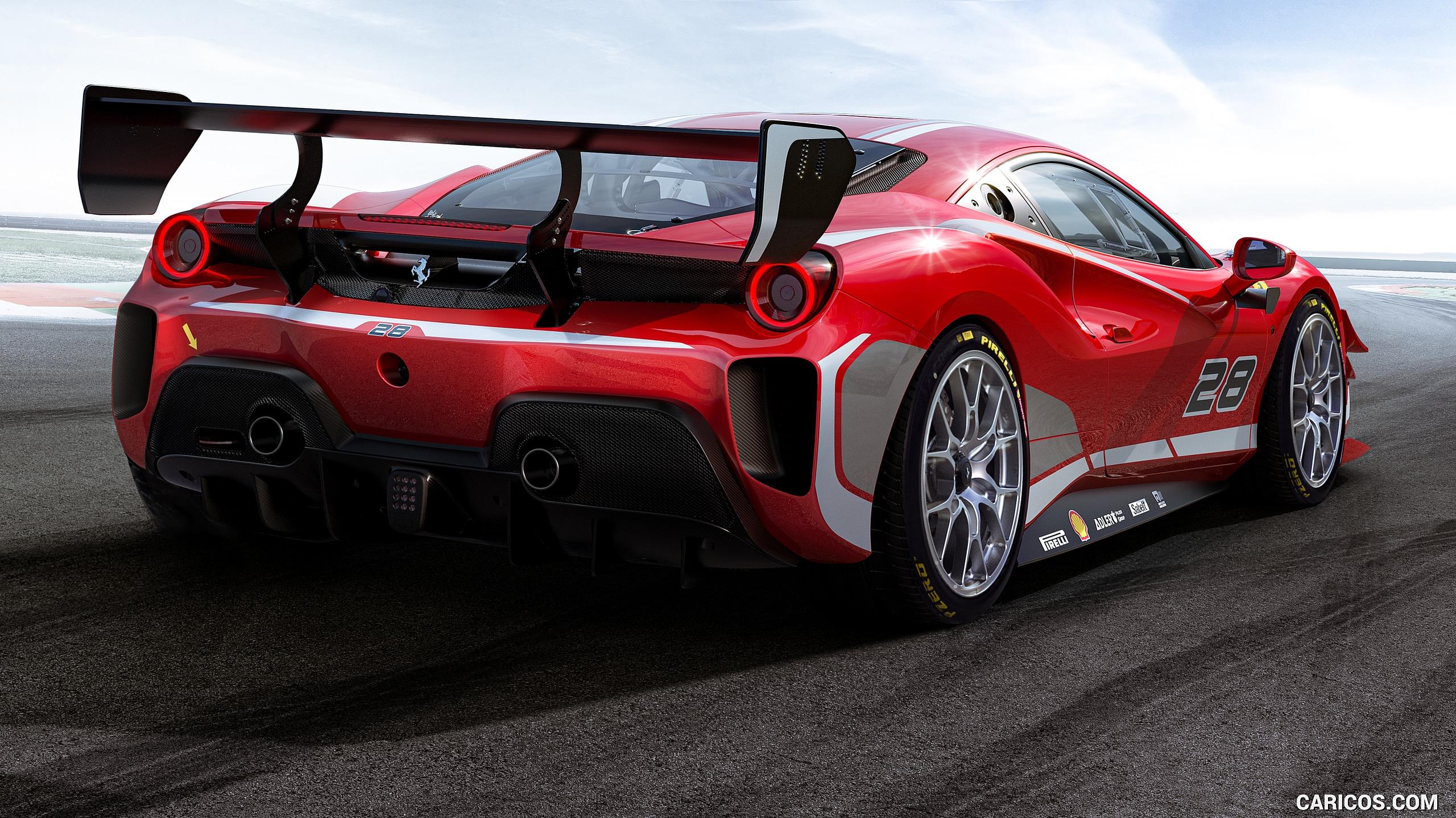 2020 Ferrari 488 Challenge Evo   Rear Three Quarter HD Wallpaper 2 2560x1440