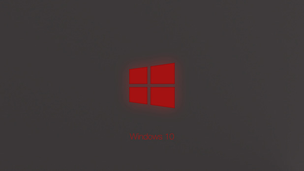 windows 10 technical preview red glow wallpaper 1920x1080 618x348