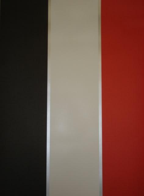 RED Cream Black Silver Striped Wallpaper 6166 No Match No Waste 472x640
