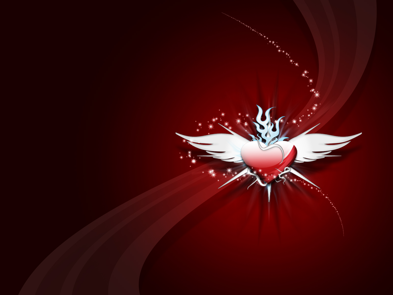 Heart with wings wallpapers Heart with wings stock photos 1600x1200