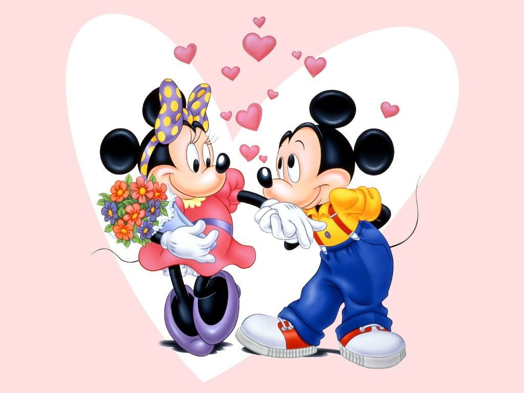 Mickey Mouse Disney Valentine Wallpaper for Desktop Backgrounds HD 1024x768