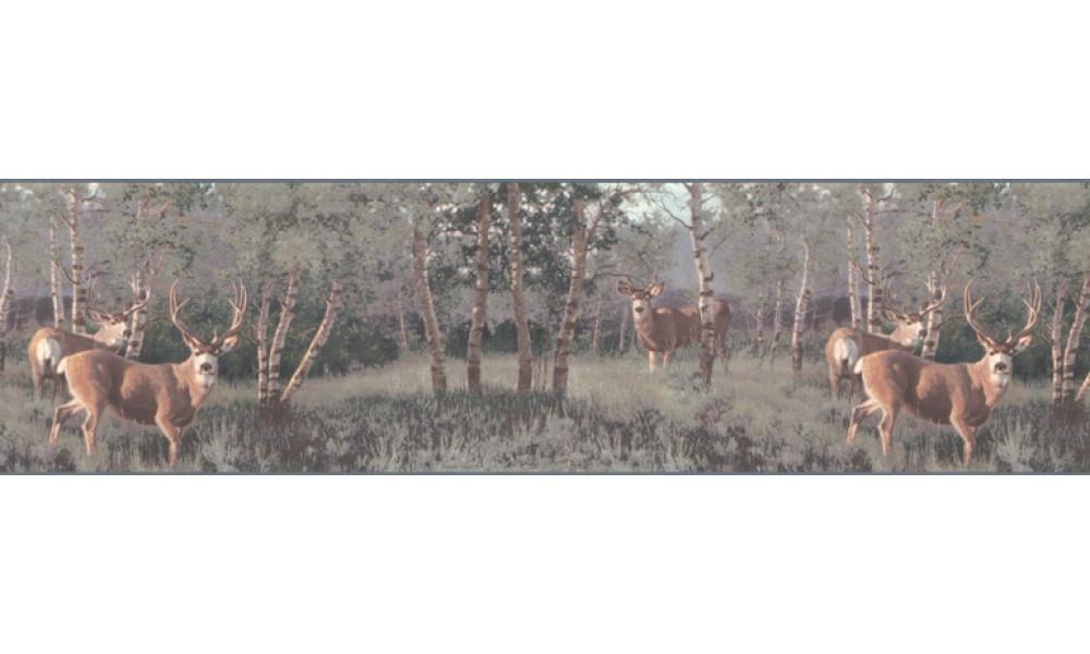 Home Animal Borders Deer Moose Deers Wallpaper Border B2184PG 1000x600