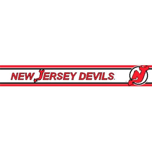 Wallcovering TX RB DEVL New Jersey Devils 5 5 inch H Wallpaper Border 500x500