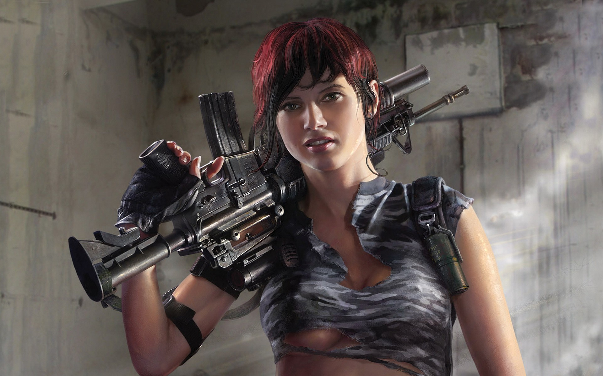 Women Guns Wallpaper 1920x1200 Women Guns CGI 3D Girls 1920x1200