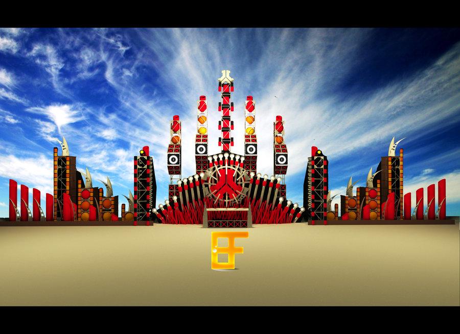 Defqon1 2008 RED Stage by DJBUFFEY 900x655