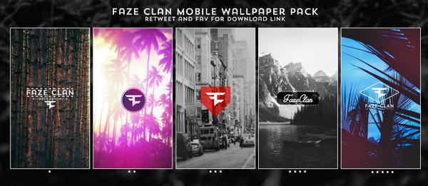FaZe Nikan on Twitter FaZe Clan Mobile Wallpaper Pack RT and Fav if 600x261