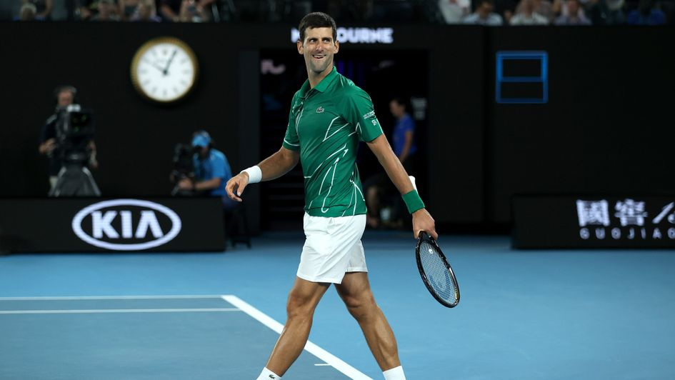 Australian Open 2020 mens results Novak Djokovic beats Roger 945x532