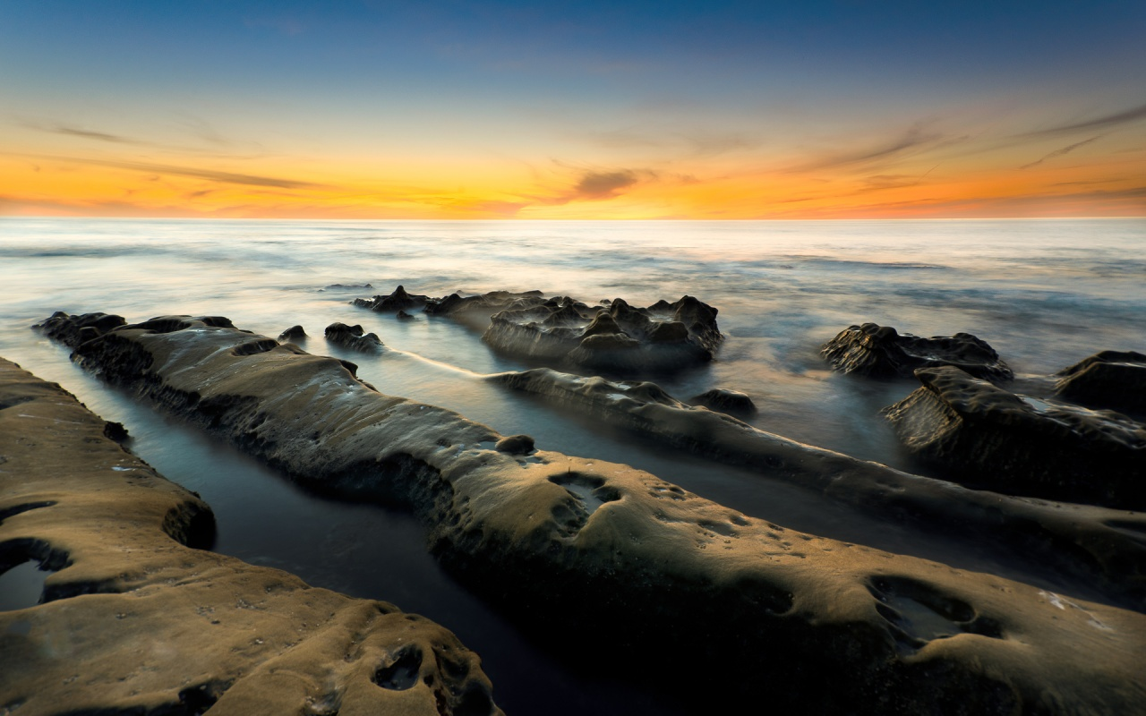 La Jolla Cove Sunset 1280x800 wallpaper download page 263700 1280x800