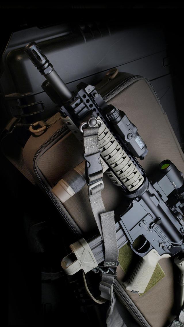 Military Guns Wallpaper Iphone Hd Wallpapers backgrounds 640x1136