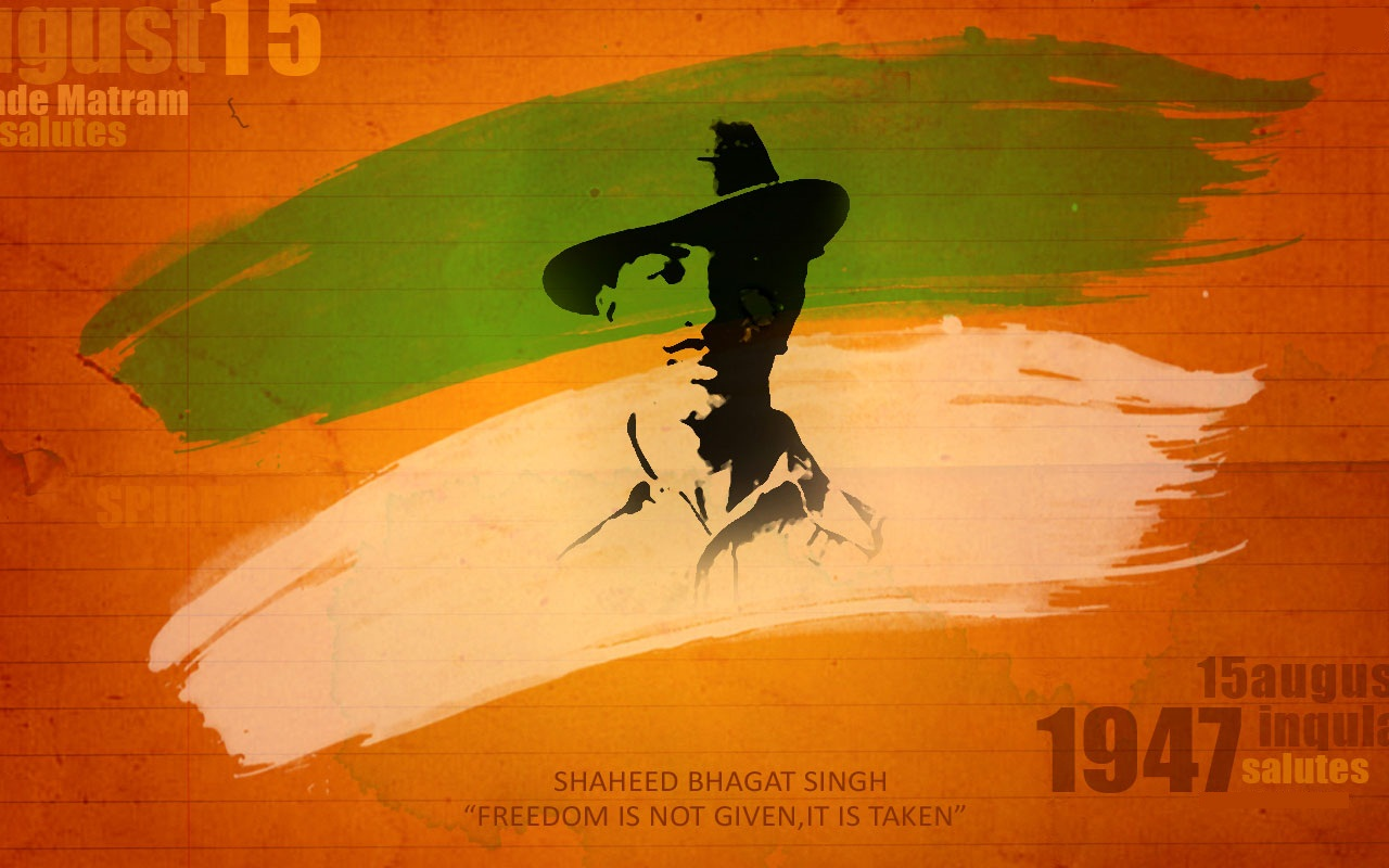 Independence Day 2013 HD Wallpapers   Bhagat Singh Picture Wallpaper 1280x800