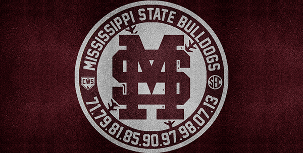 Mississippi State Bulldogs Baseball College World Series Roundel 600x304
