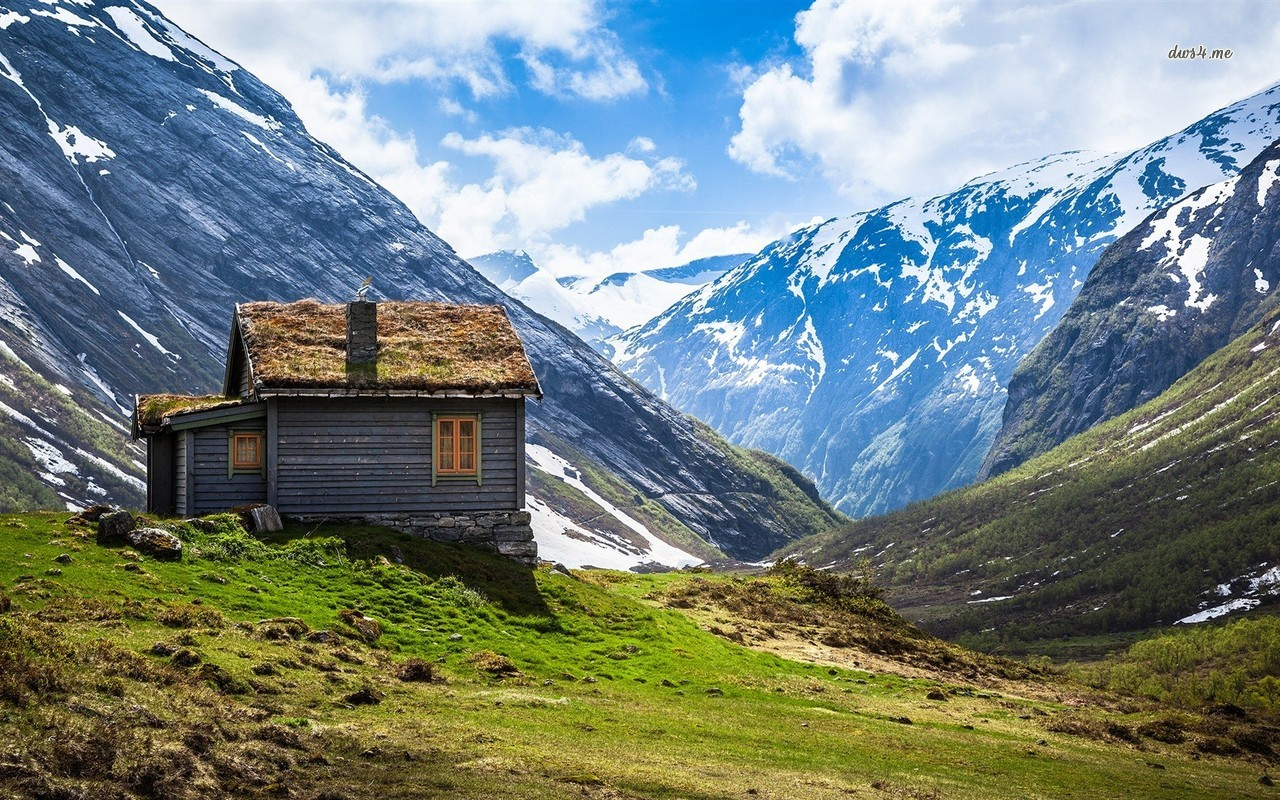 Mountain cabin in Norway wallpaper   World wallpapers   14542 1280x800