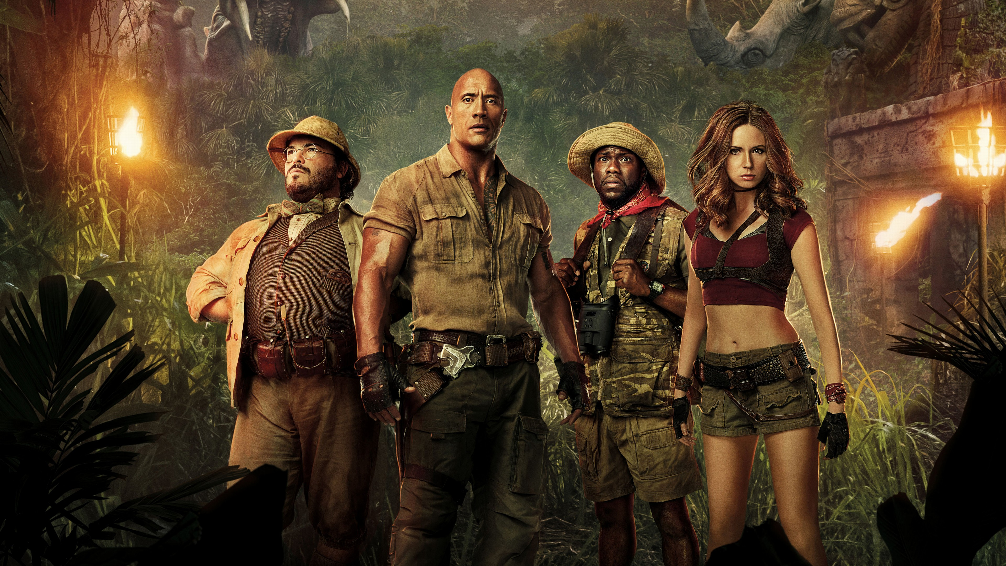 Jumanji Welcome to the Jungle 4k Ultra HD Wallpaper Background 3840x2160