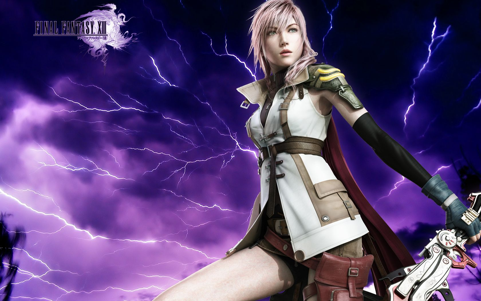 Final Fantasy 13 Lightning Wallpaper HD 1680x1050